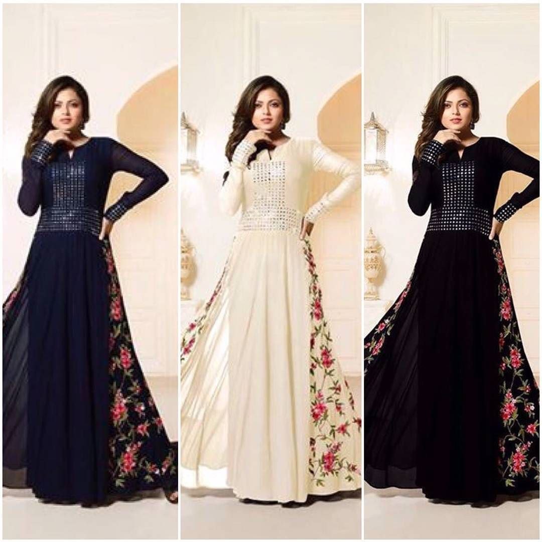 Top dresses to wear to a wedding  Checkout this drashti dhami new arrival mirror worked suit COLOUR