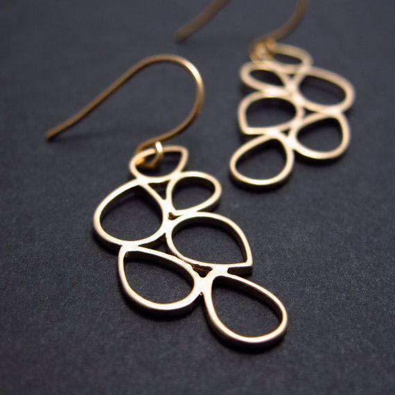 luxe bubbles gold earrings