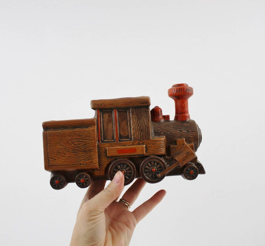 1266 Train Engine Vase Planter