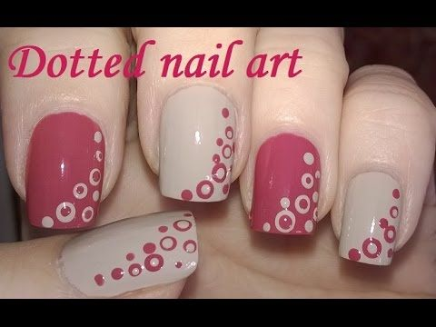 Dotting Tool Nail Art Tutorial Diy Cute Mauve And Light Brown Nails You