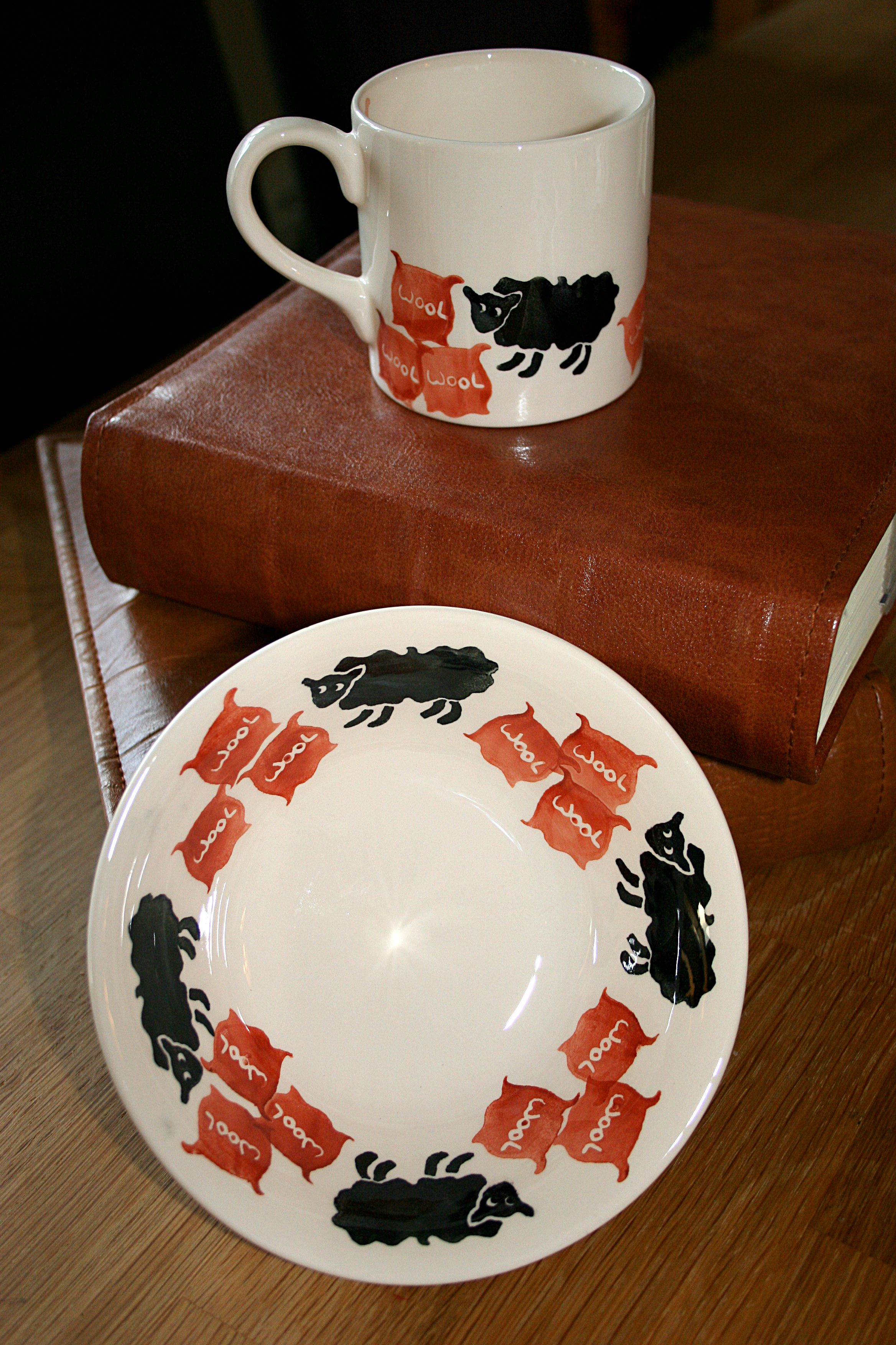 Childrens Set Of Baabaa Black Sheep Www Peregrinepottery Co Uk Pottery Tableware Glassware
