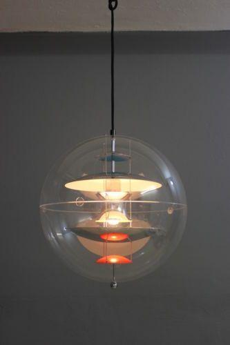 Enormt VERNER-PANTON-VERPAN-VP-GLOBE-LAMPE-DECKENLAMPE-40-cm-DANISH-60er YM-18