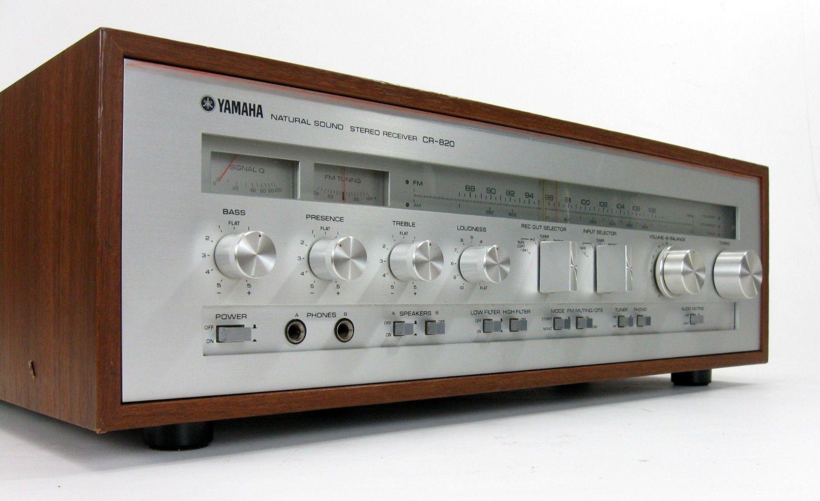 Yamaha CR 820 Vintage Stereo Receiver 55 WPC TLC   eBay