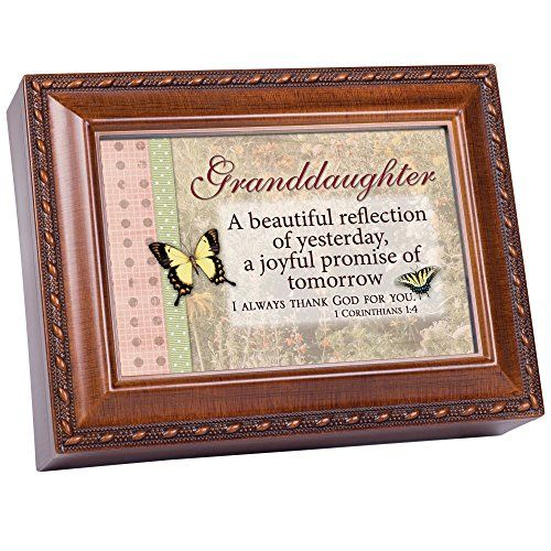 Granddaughter Jewelry Box Amusing Cottage Garden Granddaughter Woodgrain Music Box Jewelry Box Plays Design Inspiration