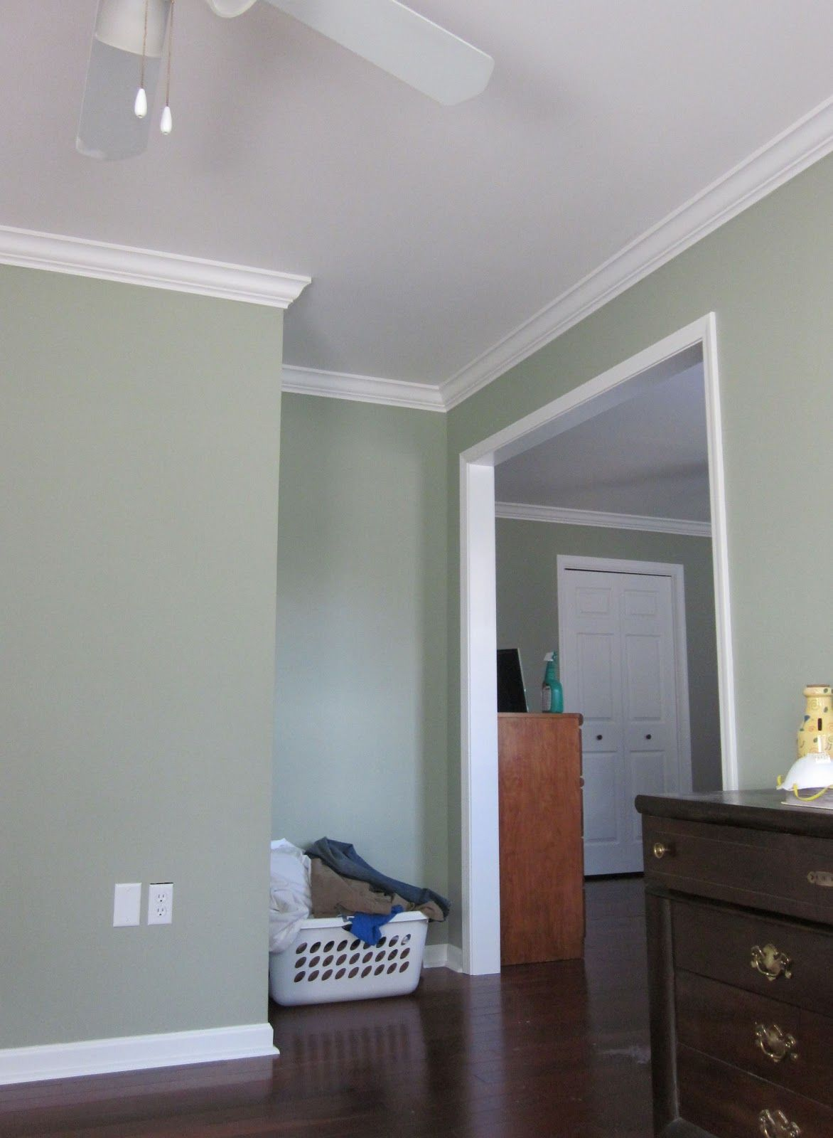 awesome green paint color for accent wall living room | Saybrook Sage | Bedroom paint colors, Sage green walls ...