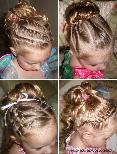 Детские прически для девочек - (61 фото). Прически для детей 39