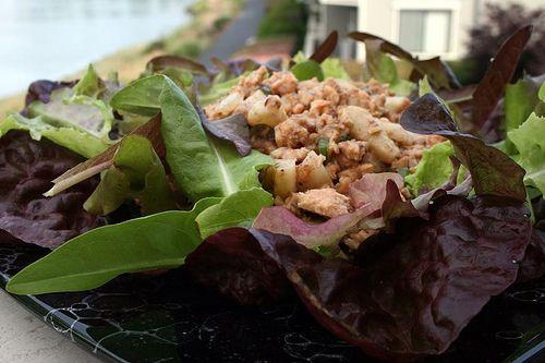 Salmon Water Chestnut Salad by laceilbleu, via Flickr