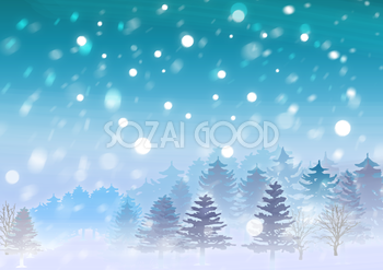 冬の背景イラスト雪積もる山景色風景38723 素材 壁紙の背景