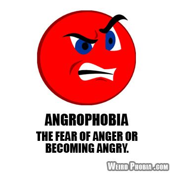 Angrophobia The Fear Of Anger Or Becoming Angry Dictionary