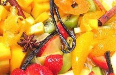 Recette - Salade de fruits aux �pices qui fait faire hummm - Not�e 4.3/5 par les internautes