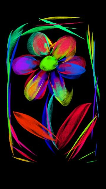 Abstract flower art digital art colorful flower bright artwork neon colorful world - World of color wallpaper ...