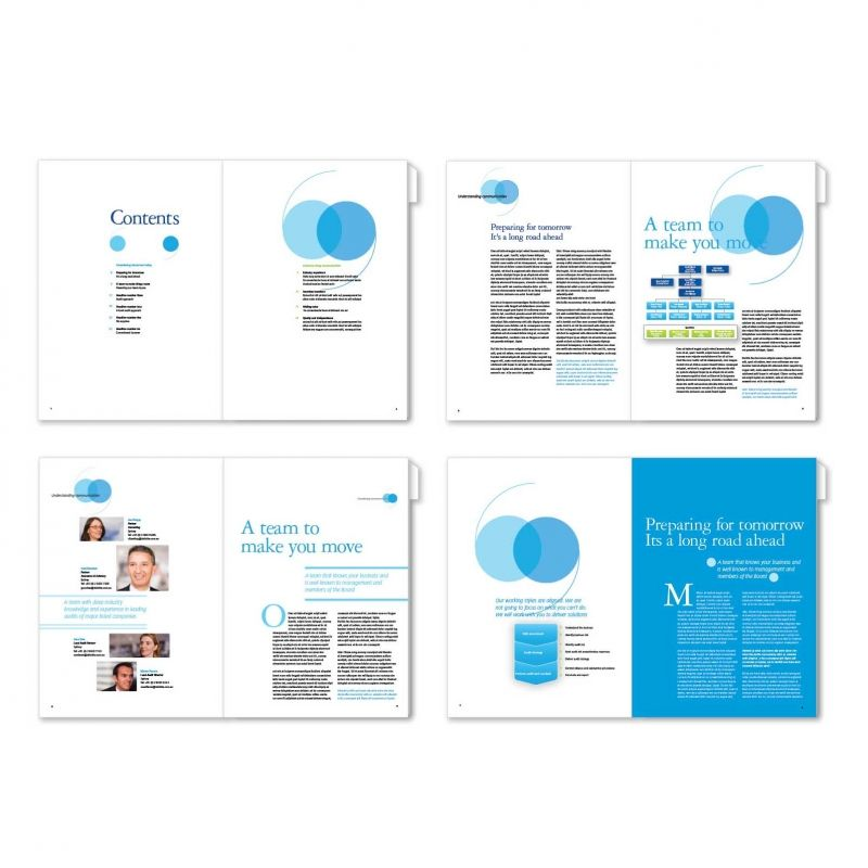 Proposal layout concepts produced for a large media company audit - best proposal templates