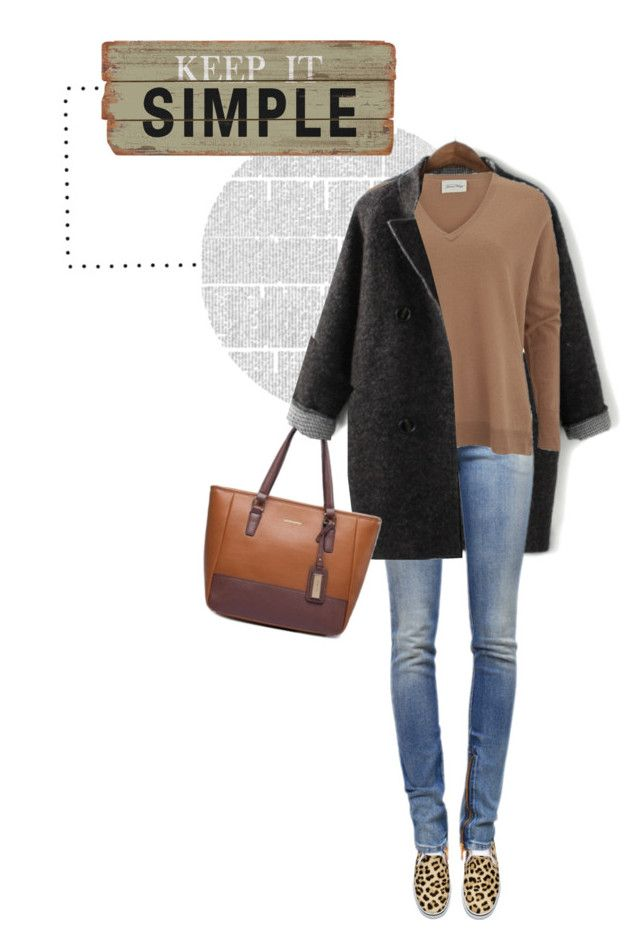 """""""Simple Style"""" by youaresofashion ❤ liked on Polyvore featuring moda, H&M, Balmain, American Vintage e LeopardPrint"""