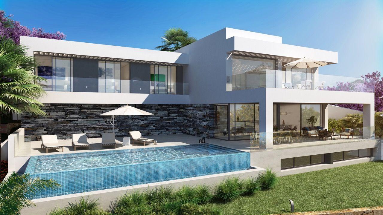 Modern Design Villas In Newgoldenmile Marbella Area See Bablomarbella Com En Show Sale 25244 Modern Design Villas Marbella Villas Villa Marbella