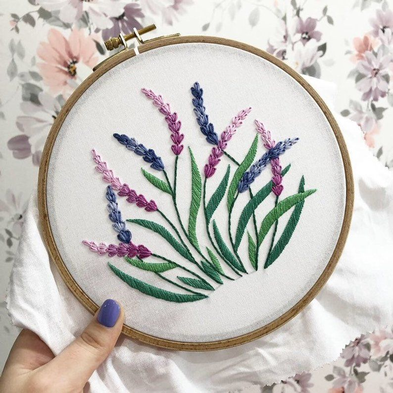 Lavender Hand Embroidery Pattern Digital Download Pdf Etsy Hand Embroidery Pattern Hand Embroidery Art Embroidery Kits