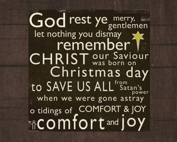 God Rest Ye Merry Gentlemen Printable 8x8 Christmas Christian Wall Art Decor Scripture Wall Art Decor Christian Christmas Christmas Quotes Comfort And Joy