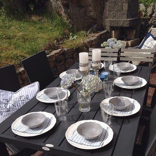 #Hverdagsglimt 5/5 i utfordring fra flinke @reginesinterior (tar de to siste idag siden jeg glemte igår) Bordet er dekket så da er det bare  Å vente på gjestene:)