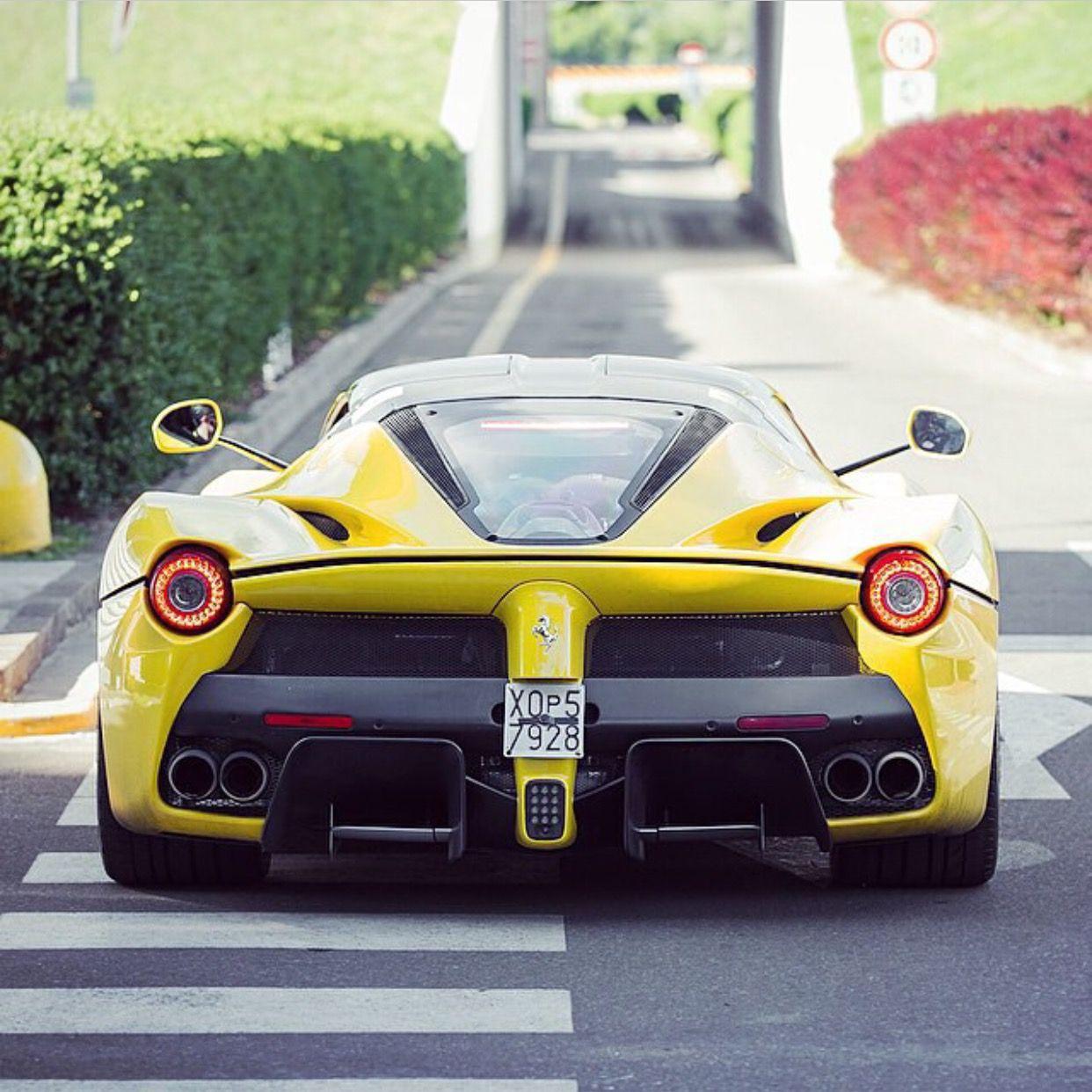 High Quality Ferrari LaFerrari Painted In Giallo Modena Photo Taken By: @philippluecke  On Instagram
