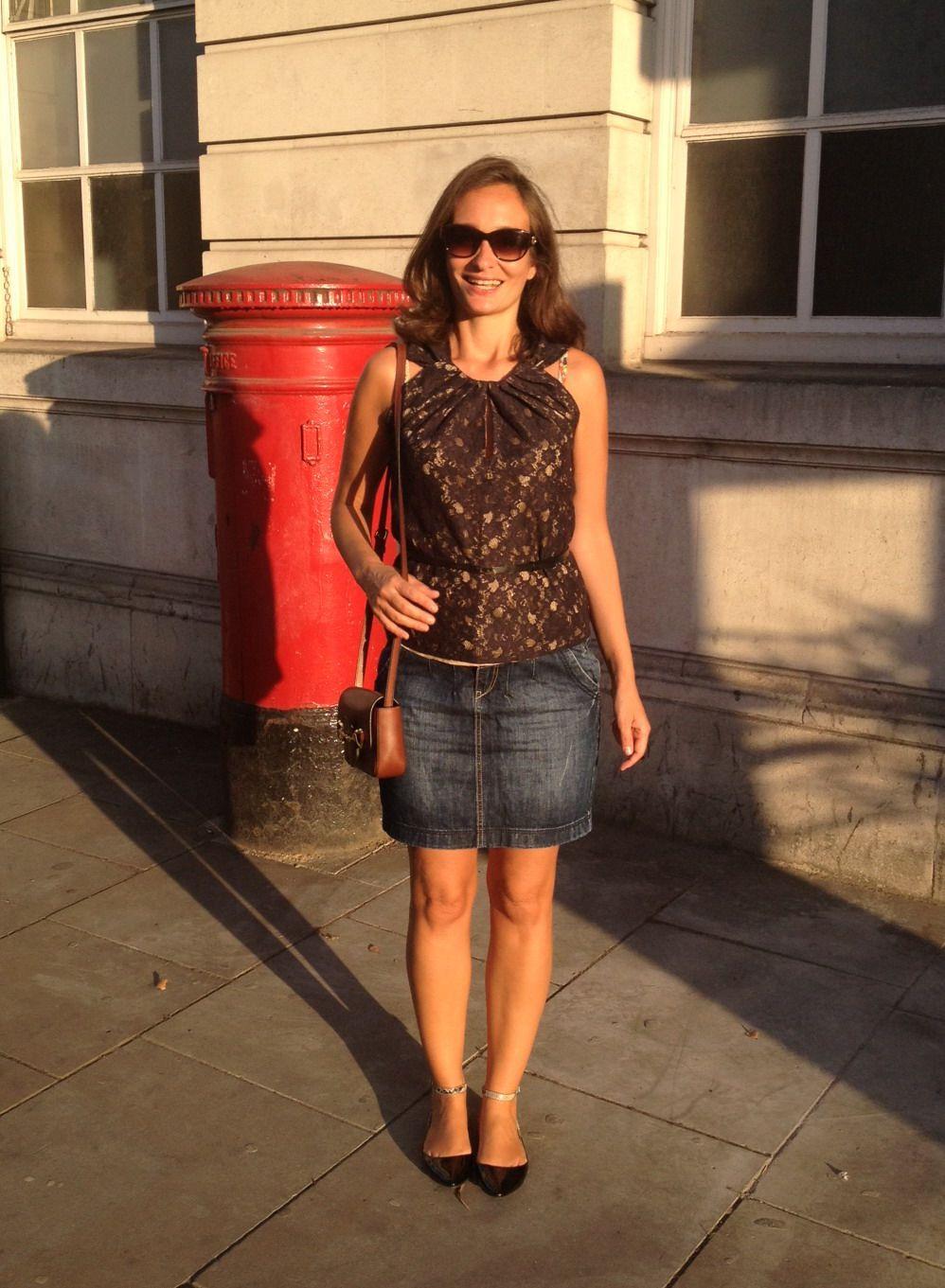 Denim mini skirt outfit ideas - Google Search | Skirts | Pinterest | Pencil skirts Denim mini ...
