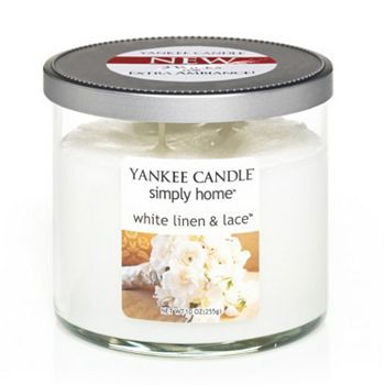 Yankee Candle simply home 10-oz. White Linen and Lace Jar Candle #KohlsDreamGifts