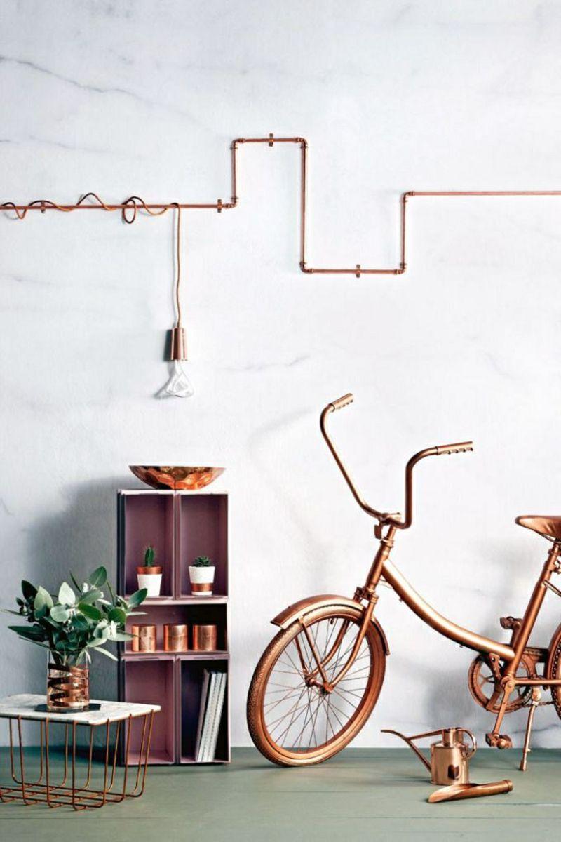 Kreative Einrichtungsideen So Wird S Vom Defekt Zum Effekt Vintage Industrial Furniture Copper Marble Industrial Design Furniture