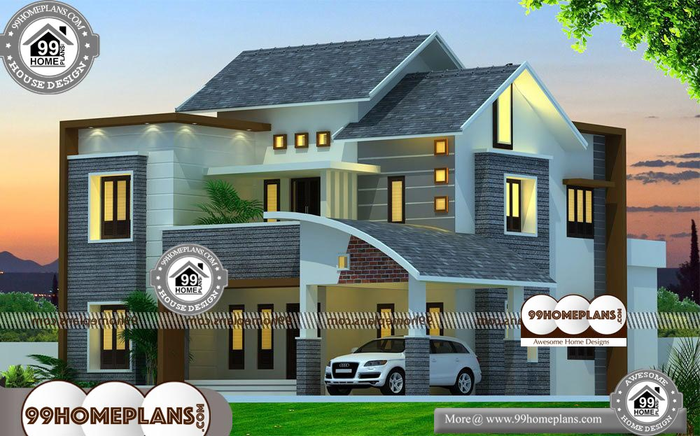 Narrow Modern Homes 80 Double Storey Plans With Balcony Online Free House Plans Luxury House Plans Modern House