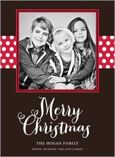 Merry Polka Dots 6x8 Stationery Card by Yours Truly Shutterfly