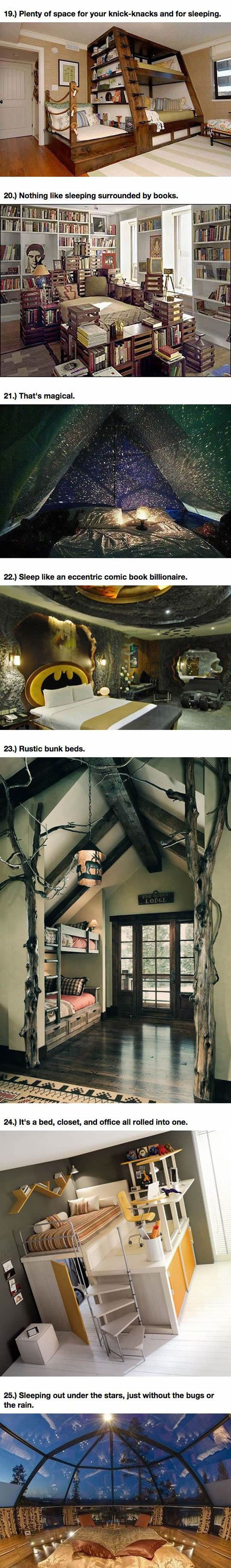 25 Amazing Beds Will Make You Wish It Was Nap Time  꿈의 집, 침대 및 도서관