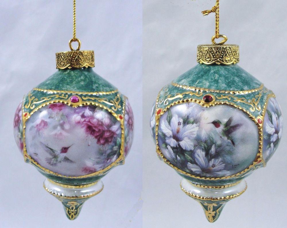 Bradford christmas ornaments - Bradford Exchange Set Of 2 Lena Liu Hummingbird Porcelain Collectible Ornaments Bradfordexchange