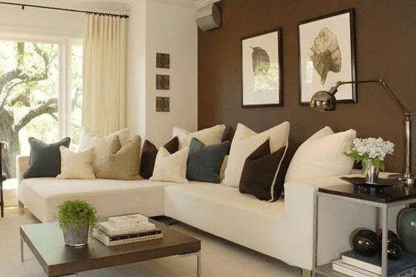 Decoracion Salon Sofa Beige