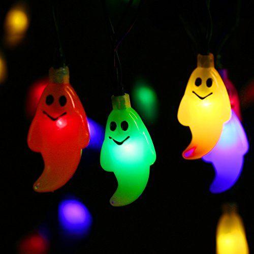 Qedertek Solar Powered Halloween String Lights, 1968ft 30 LED