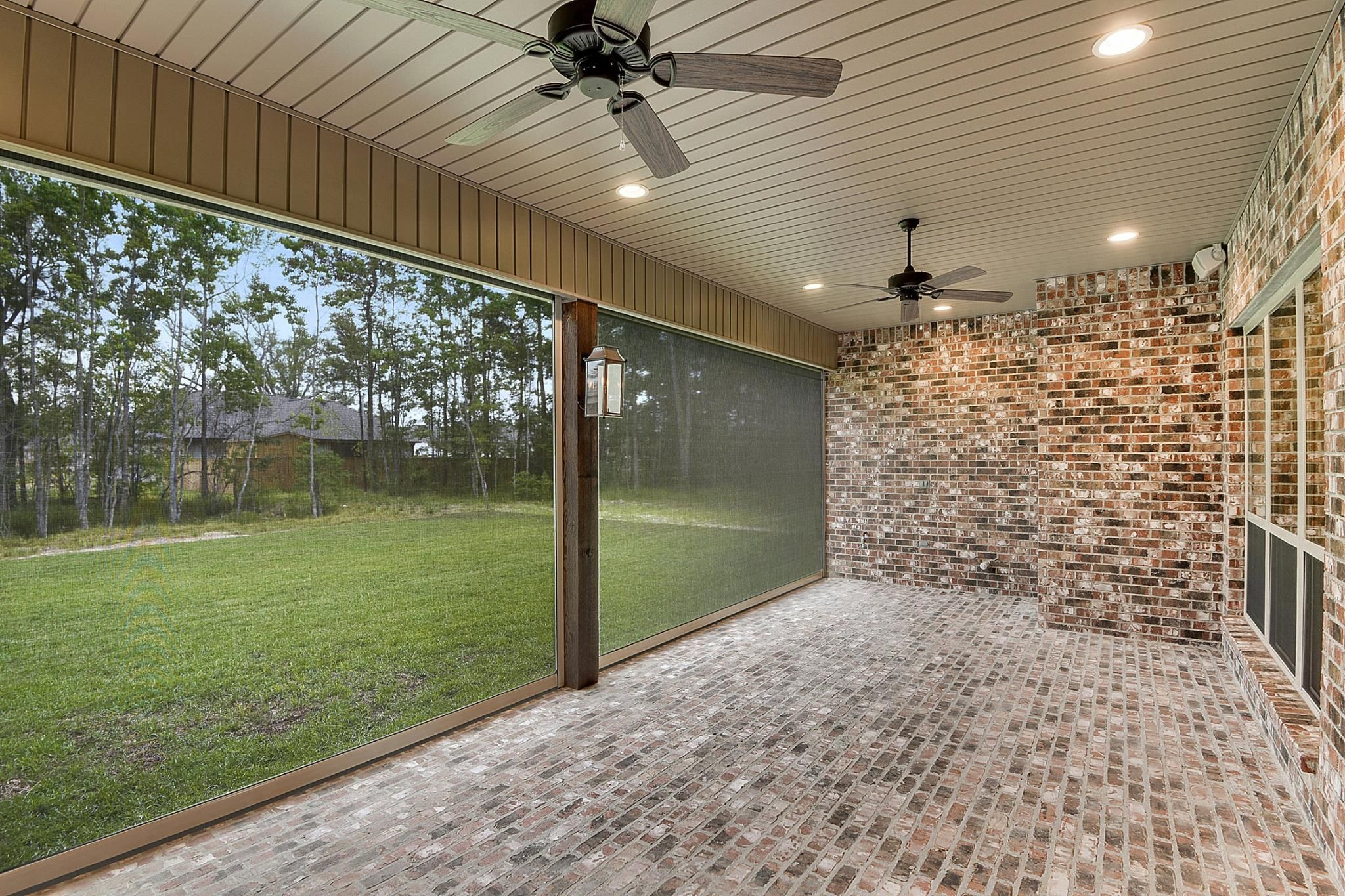 Custom Back Porch With Great Features Including A Retractable