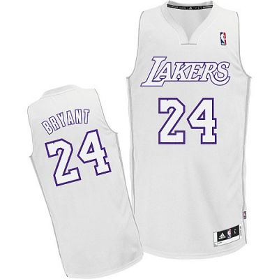 super popular 8f715 cfd58 Kobe Bryant Authentic In White Adidas NBA Los Angeles Lakers ...