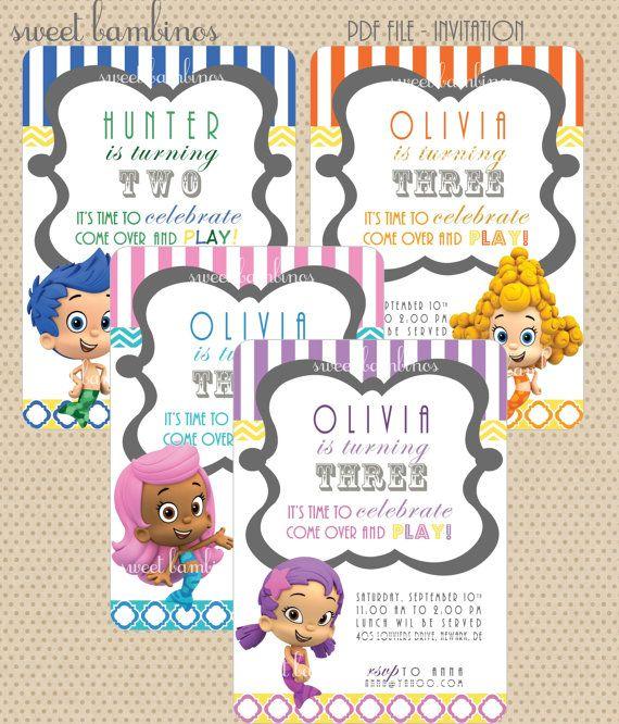 Bubble Guppies invitations. | Birthday Party Ideas | Pinterest ...