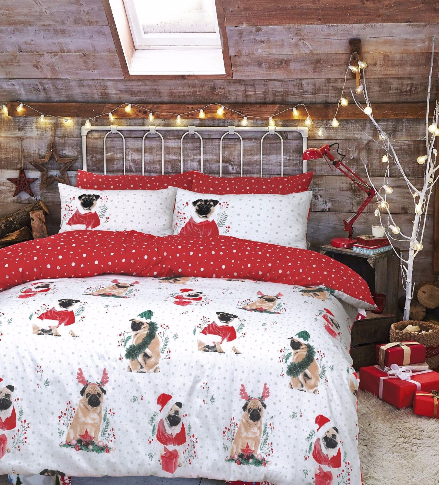 Pug Christmas Bedding Sets Available In Sizes Singledouble King