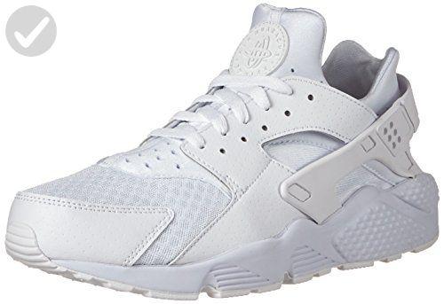 Nike Men S Air Huarache White White Pure Platinum Running Shoe 10 Mens World Amazon Partner Link Nike Air Huarache Air Huarache White Huaraches