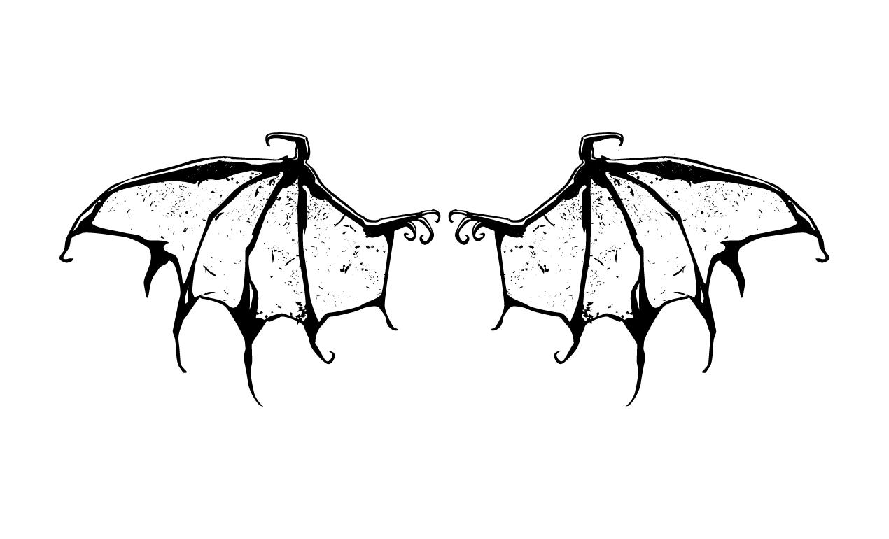 Adobe Illustrator Skull Wing Vector Pack Wings Drawing Vector Art Design Wings
