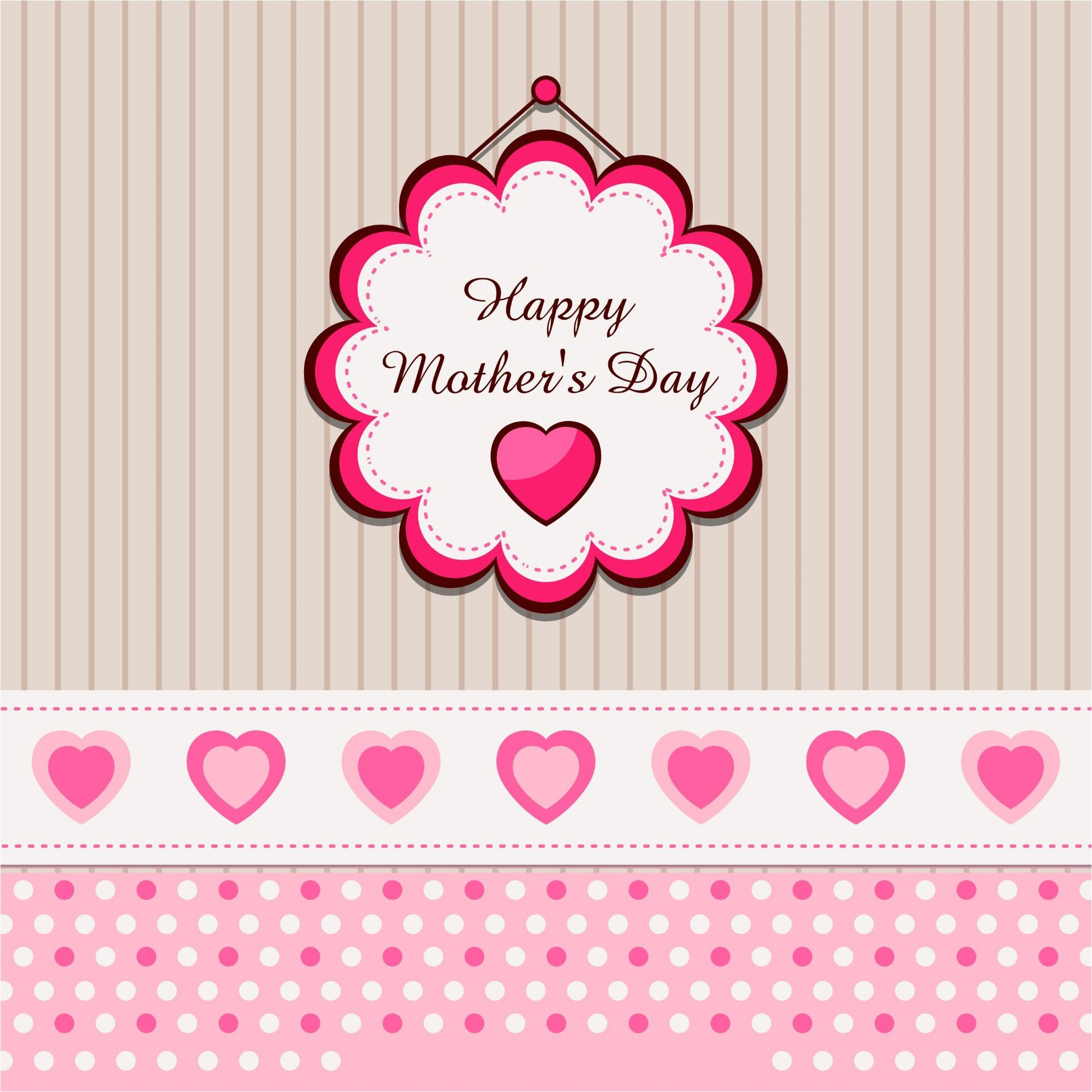 Happy MotherS Day Greeting Card Design Template    Best