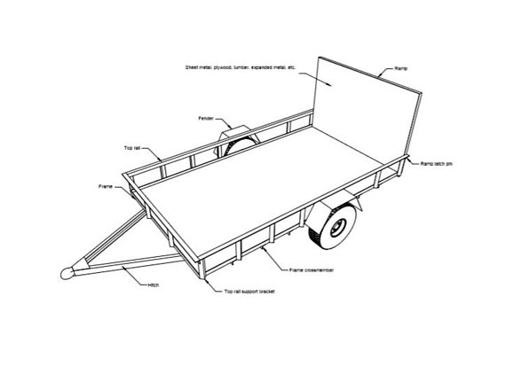 Utility Trailer Plans Diy Open Lawn Cargo Carrier 6 X 10 Build