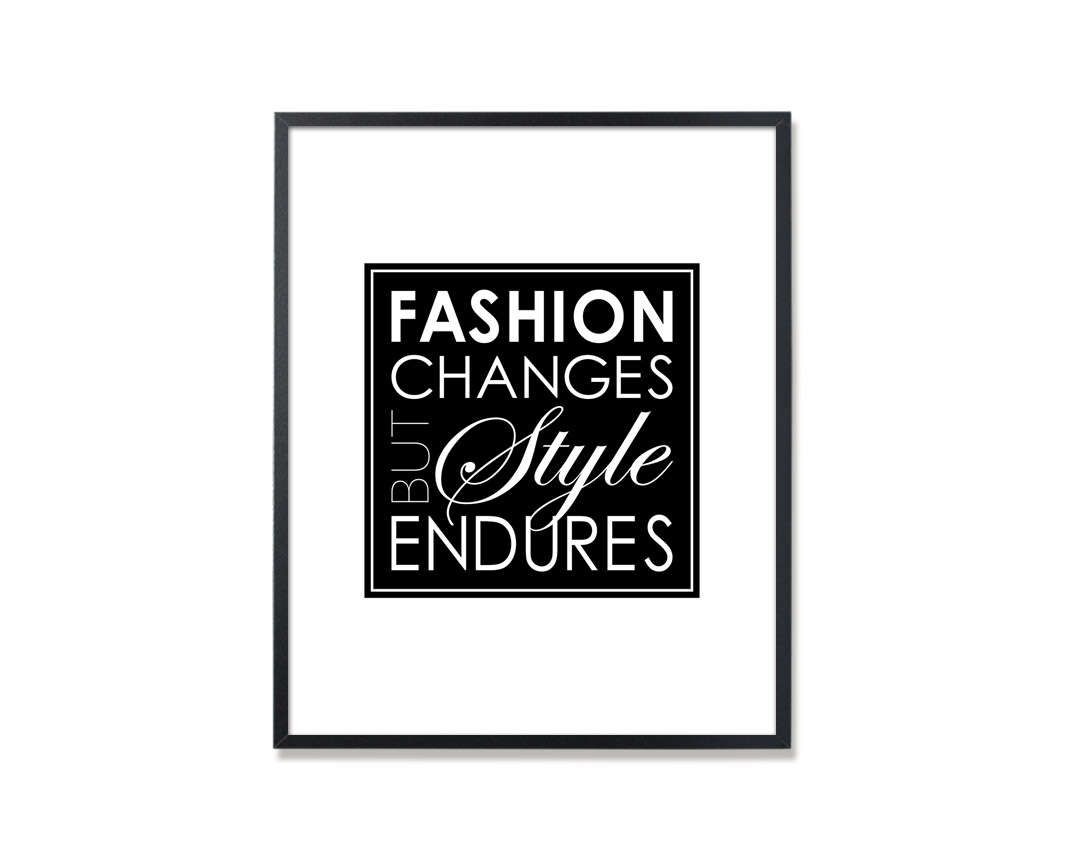 Chanel quote chanel quote print fashion changes but style endures