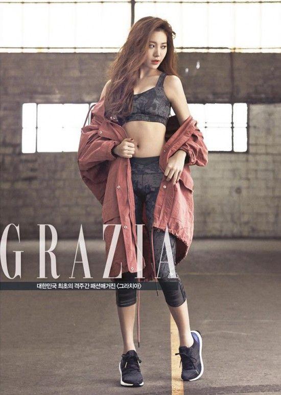 cdb160eb60ce5 Girl s Day s Yura is a sexy  Adidas  model for  Grazia