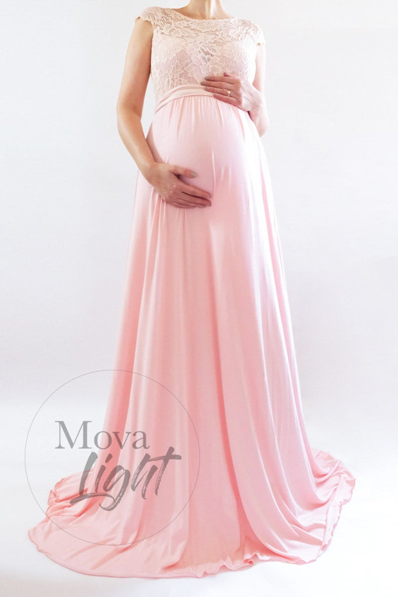 9a55db294d MELANIE Blush Maternity Dress for Baby Shower Maternity Gown | This ...