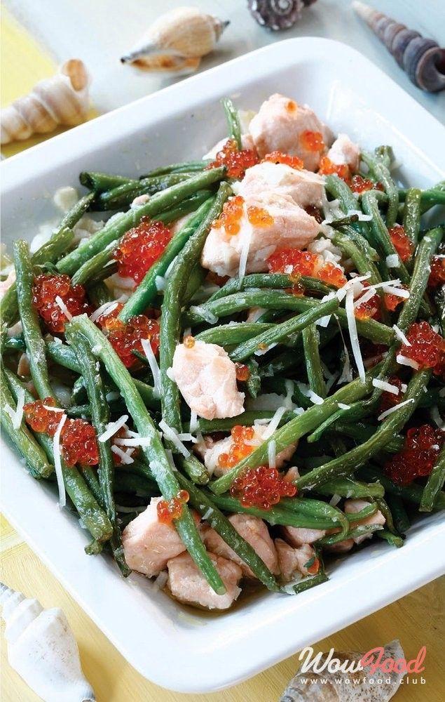 Рыбный салат со стручковой фасолью | Рецепт | Рыбный салат ...