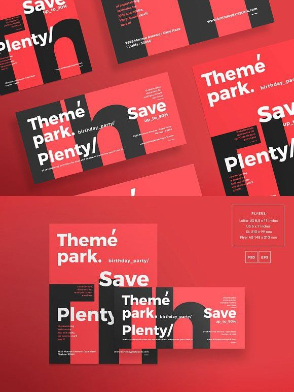 flyers theme park flyer templates flyer templates pinterest