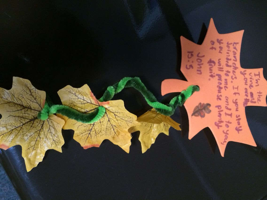 I am the vine you are the branches craft sunday school for Vine craft ideas