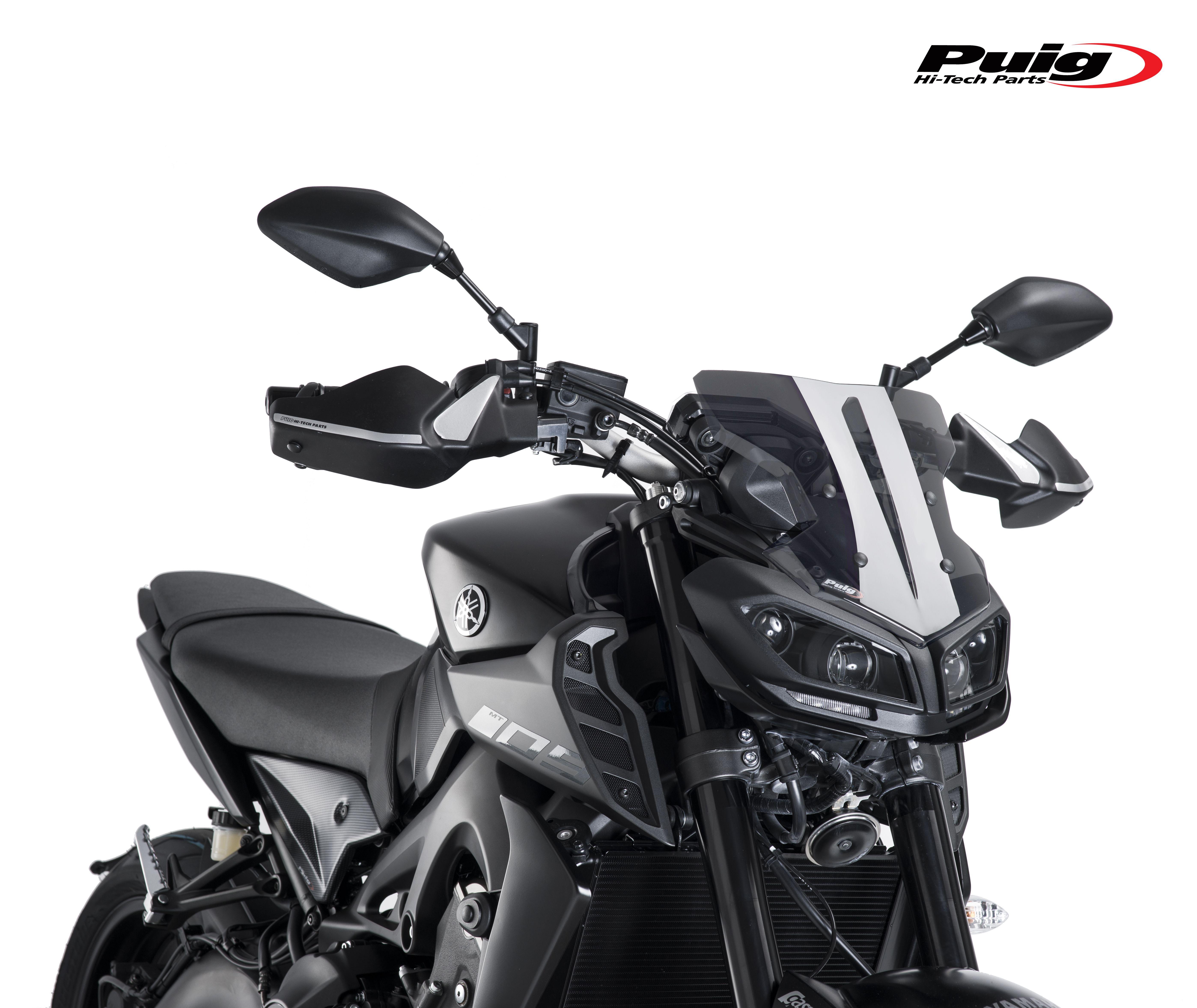 Yamaha Mt 09 2017 By Puig Sport Screen Dark Smoke Moto Fz