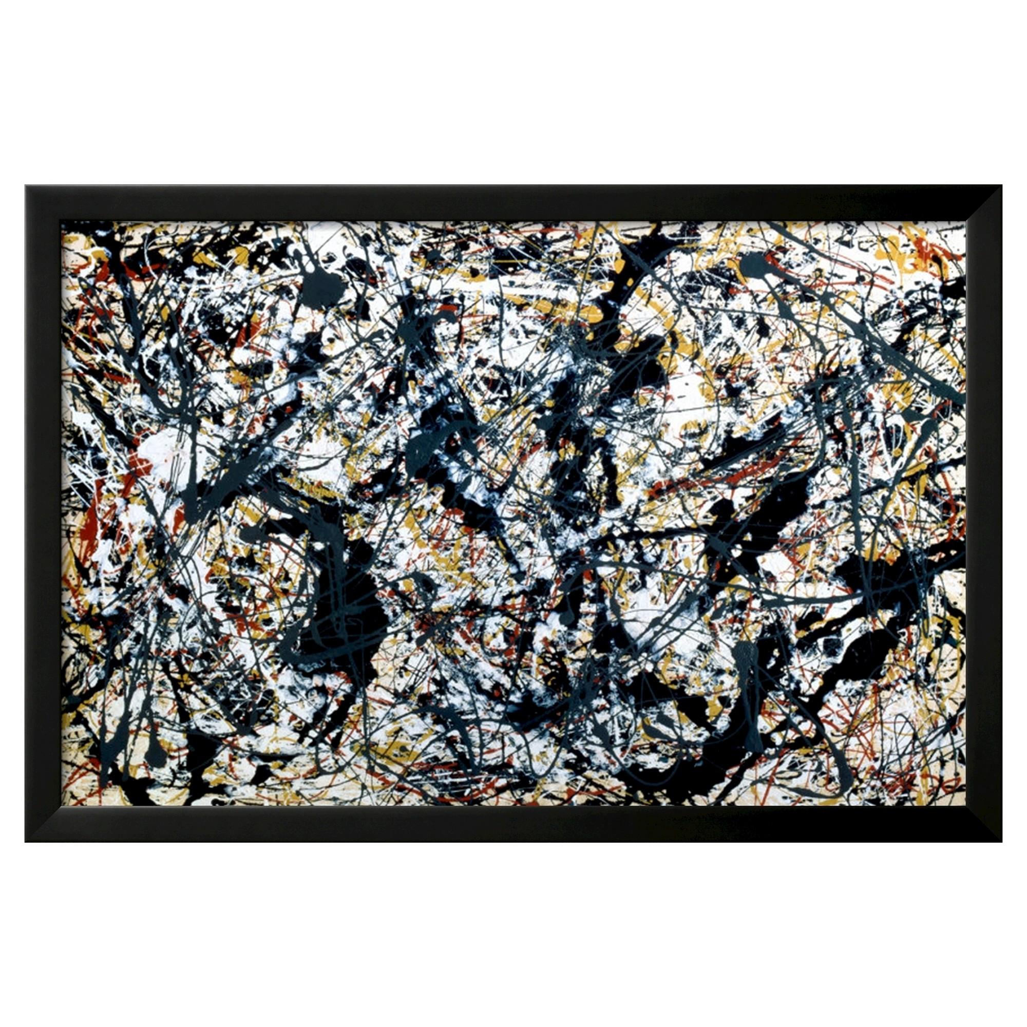 Art.com Silver On Black by Jackson Pollock - Framed Poster | Pinterest