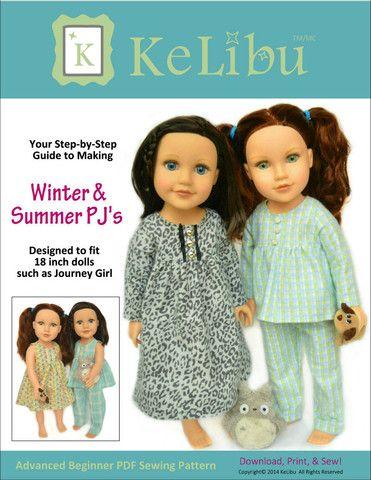 Winter & Summer PJ\'s for Journey Girls Dolls
