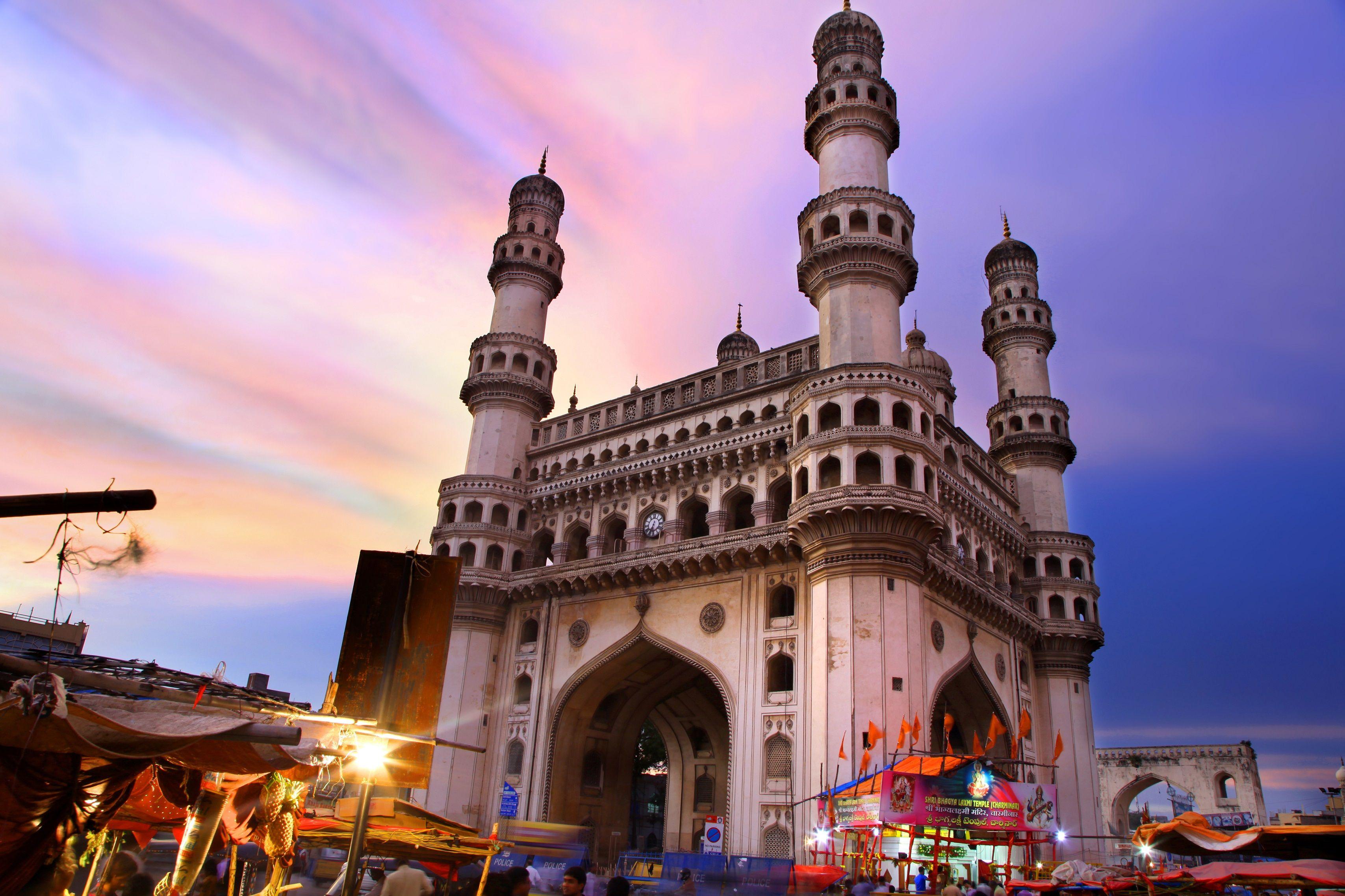 Charminar Mosque Hyderabad India Monument in india