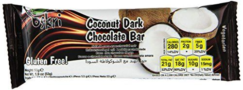 Oskri Coconut Bar, Original with Dark Chocolate, 1.9-Ounce (Pack of 20) ** Details can be found by clicking on the image.